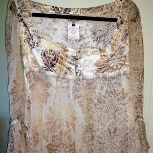 JUST CAVALLI BOHO PEASANT TOP !